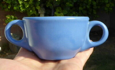 """Vintage """"CATALINA ISLAND POTTERY"""" Double Handled Cup Blue"""