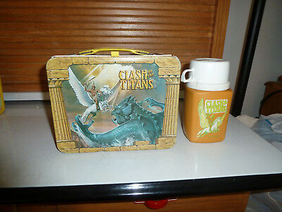 Vintage King-Seeley CLASH of the TITANS Lunch Box w/ Thermos!