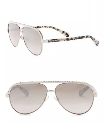 fa8192d6703d New Authentic Jimmy Choo Women s Aviator Sunglasses LINA S J8BNQ  475