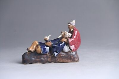 Collection Chinese hand carving Enamel porcelain character statue  at463