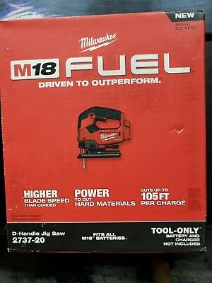 NEW SEALED Milwaukee M18 D- Handle Jig Saw TOOL ONLY 2737-20