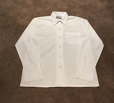 Beare & Ley Girls White Button School Shirt - Size 16 - Excellent Condition