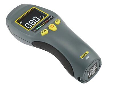 Pinless LCD Moisture Meter with Tricolor Bar Graph - General Tools MM8 - NIB!