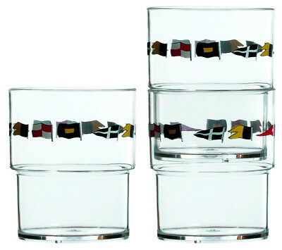 Lot 12 Verres Empilables Marine Business Regata 12103