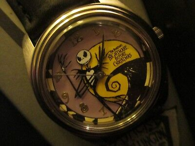 disney nightmare before christmas wristwatch fossil limited watch in coffin rare