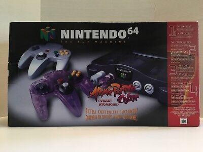 Nintendo 64 Atomic Purple, System Sealed, Comes W/3 Games, Never Opened Rare!!!