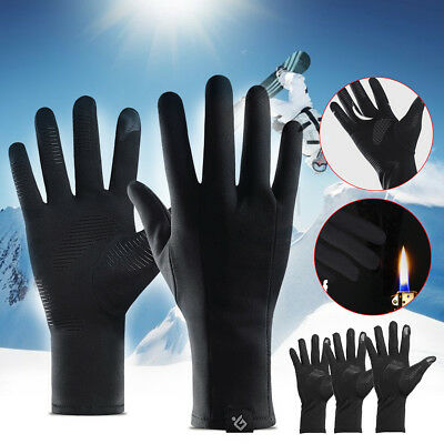 Winter Warm Thermal Cycling  Waterproof Gel Gloves Touch Screen Skiing Outdoor