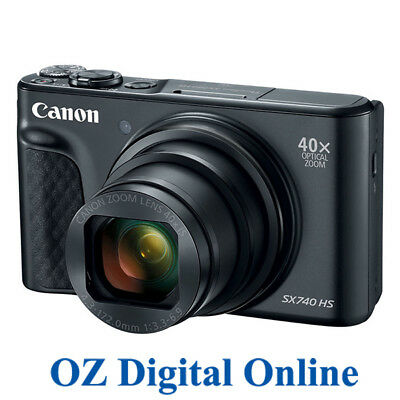NEW Canon PowerShot SX740 HS Black 20.3MP 40x Optical Zoom 4K Wifi 1 Year Au Wty