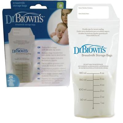 Dr Brown's Breastmilk Storage Bags - Pack of 25 BPA Free