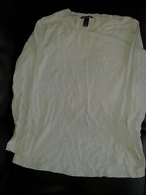 H&m Mama Sweden Womens Size L Maternity Long Sleeve Tshirt Top Casual Pale Blue