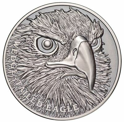 2019 WEDGE TAILED EAGLE Ultra-High Relief 1oz Silver Antique Coin