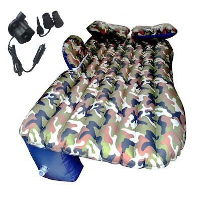 Camouflage Car Air Matress Bed for Car Backseat Inflatable Mattress Air Pump