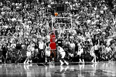 Michael Jordan - the Last Shot Basketball legend Framed canvas
