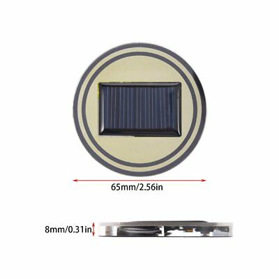 2PCS Solar LED Car Cup Holder Bottom Pad Mat Drinks Coaster LED Light Cover  TD