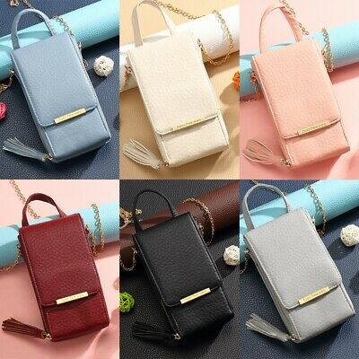 Womens Girls Wallet Purse Bag Leather Cell Phone Mini Cross-body Shoulder Bags