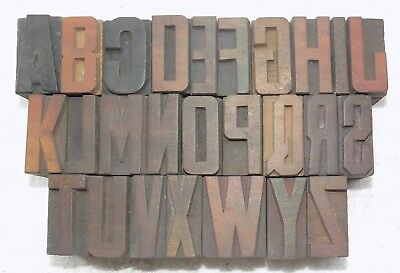 """""""A to Z"""" Letterpress Letter Wood Type Printers Block collection.vb-751"""