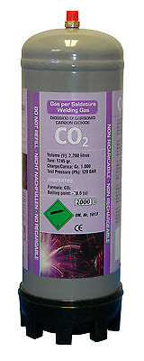 CO2 gas bottle 220ltr for mig welding disposable cylinder