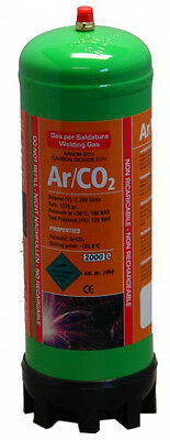 Argon/Co2 220ltr gas bottle for MIG welding disposable cylinder