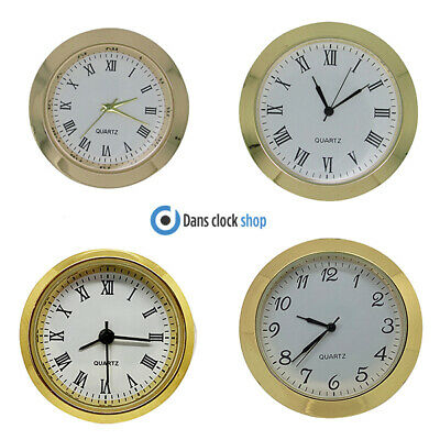 New Premium Quartz Bezel Clock Watch Movement Insert Gold With Black Numerals