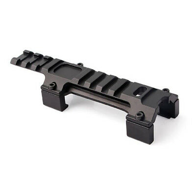 Tactical Rail Base Long Scope Mount 20mm Rail Higher Adapter MP5 Airsoft Metal