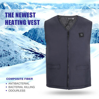 Winter Men Heat Vest Warm Heated Coat Intelligent Heating USB Sleeveless Vest