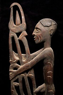Superb Asmat Ancestral Carving - South-Western New Guinea 1960's