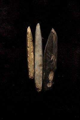 Group of Three Stone Adze Blades - New Guinea 1970's