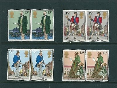 1979 - GB Sir Rowland Hill Commemorative Stamps Set of 4 in Pairs SG1095/98 MNH