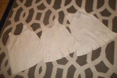 Collection of Three Little Girls Cotton Victorian Baby Slips