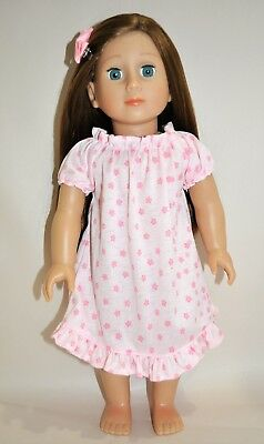 """American Girl Doll Our Generation Journey 18"""" Dolls Clothes Pink Summer Nightie"""