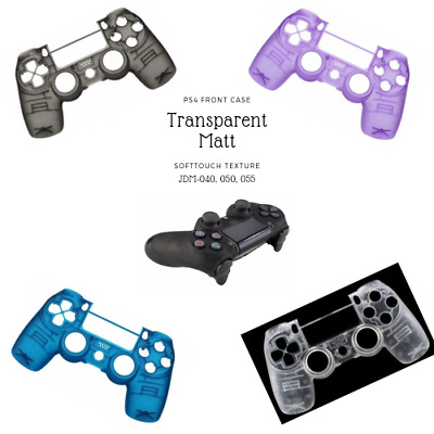 PS4 Controller Casing Case Softtouch Matte Transparent Modding Slim & Pro