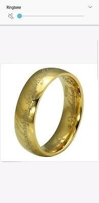 Lord of the rings ring gold