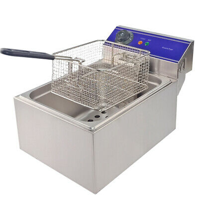10L Electrical Deep Fryer Commercial Basket Stainless Steel Tank Fat Chip Cooker