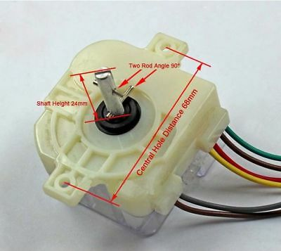 Washing Machine Six Wire Central Hole Distance Shaft Ninety Degree Switch Timer