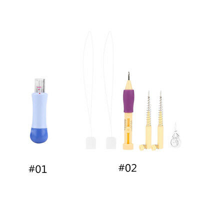 1Kit DIY Magic Embroidery Pen Punch Needle Set Sewing Stitch Knitting Tool
