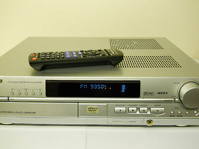Panasonic SA HT 7O  5 CD/DVD Home Theater Surround Sound Receiver mit Fernbed.