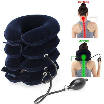 Hot Massager Neck Brace Support Cervical Collar Air Traction Therapy Device Nice