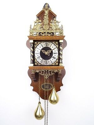 Zaanse Warmink Dutch BIG Wall Clock Vintage Antique (Hermle WUBA Junghans Era)