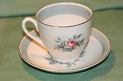 Ridgway Staffordshire Picardy Pattern Cup & Saucer Beautiful Look!!!