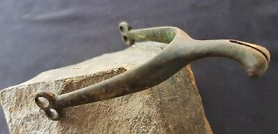 Very rare superb Post Medieval spur, missing rowel Please read description L76o