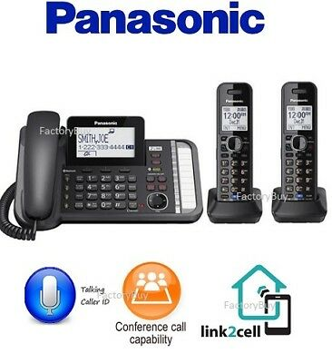Panasonic KX-TG9582B 2-Line Expandable Phone System Black