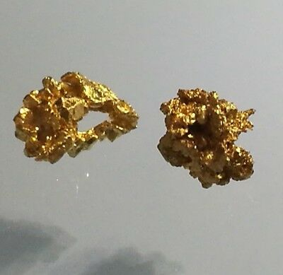 Crystalline USA GOLD NUGGET specimens 0.18 gram - RARE CUBIC Crystalized - NICE