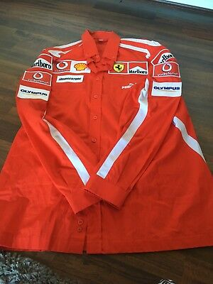 Official Scuderia F1 Ferrari Puma Team Issue Shirt 2006 Large Mint condition