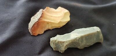 Ancient time knapped Neolithic flint blades lot. Please read description. L76d