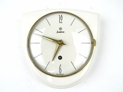 JUNGHANS German Retro Vintage Ceramic Kitchen Wall Clock (Kienzle Diehl era)