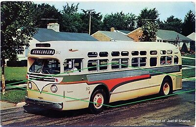 "Bus GMC #312 in Long Island ""Ronkonkoma""  Utility Lines, INC. Post Car Post Card"
