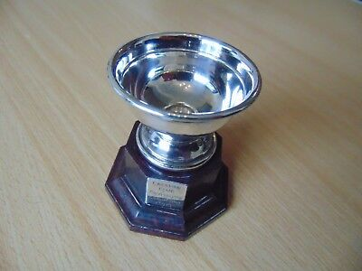 Lovely English Silver Plated Trophy Photo Photographic Comp 1970 Caravan Club