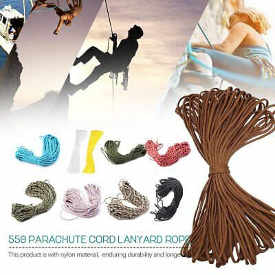 550 Paracord Parachute Cord Lanyard Mil Spec Type III 7 Strand Core New 100FT S8