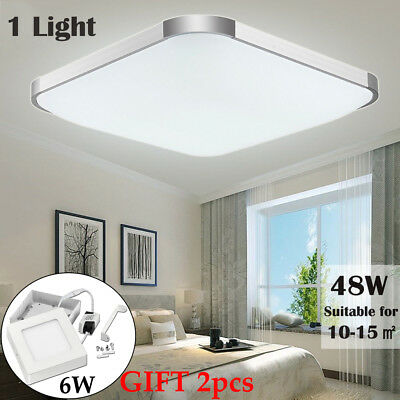 48W Modern Square LED Ceiling Light Living Room Surface Mount Fixture Lamp