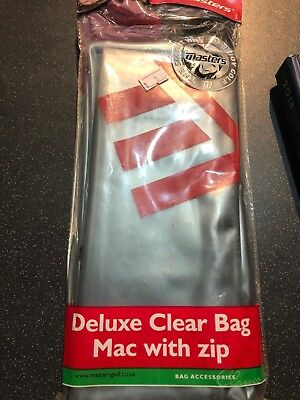 Deluxe Clear Bag Mac-With Zip -NEW